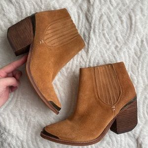 Jeffrey Campbell tan leather booties size 6.5
